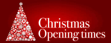Christmas Opening Times. See news feed.