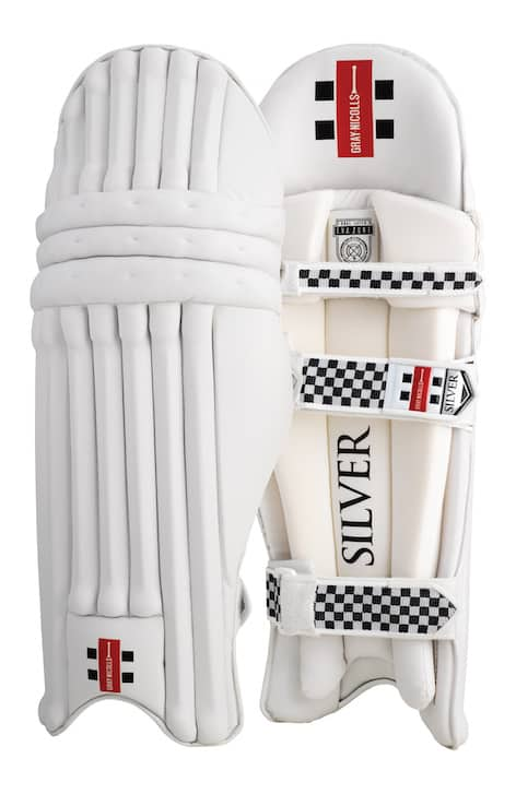 Silver Gray Nicolls Batting Pads