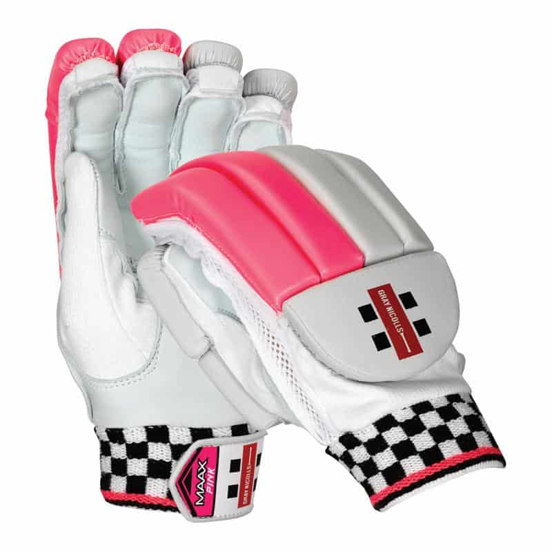 Maax Strike Gray Nicolls Batting Gloves Pink